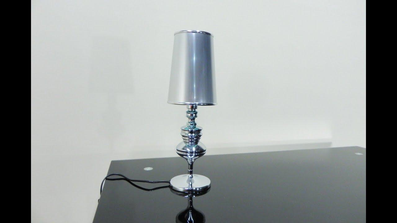 Lámparaluz económicaRef13109 diseñoElegante gris de y sobremesa cromadade Descatalogado TPkiuZwOX