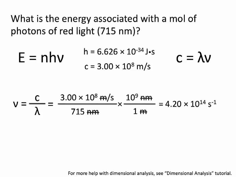 How to Calculating energy of photons