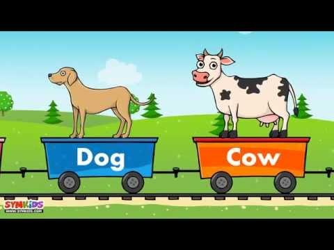 Domestic Animals train | Domestic Animals for kids | Train for kids