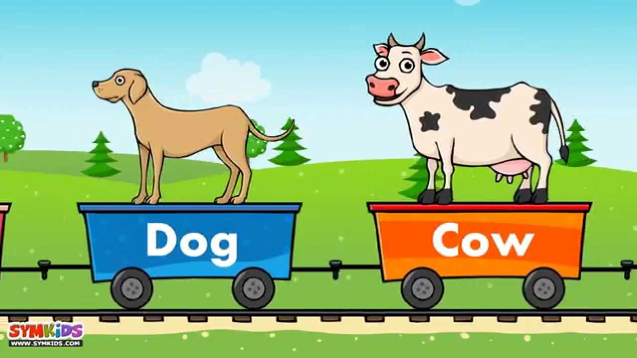 domestic animals train domestic animals for kids train for kids youtube - Pics Of Animals For Kids