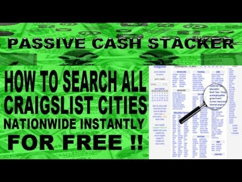 HOW TO SEARCH ALL CRAIGSLIST CITIES NATIONWIDE INSTANTLY - Every City State & Category At Once !