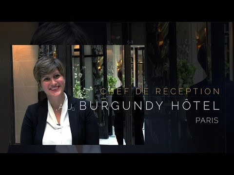 Chef de Réception à l'Hôtel Burgundy Paris *****