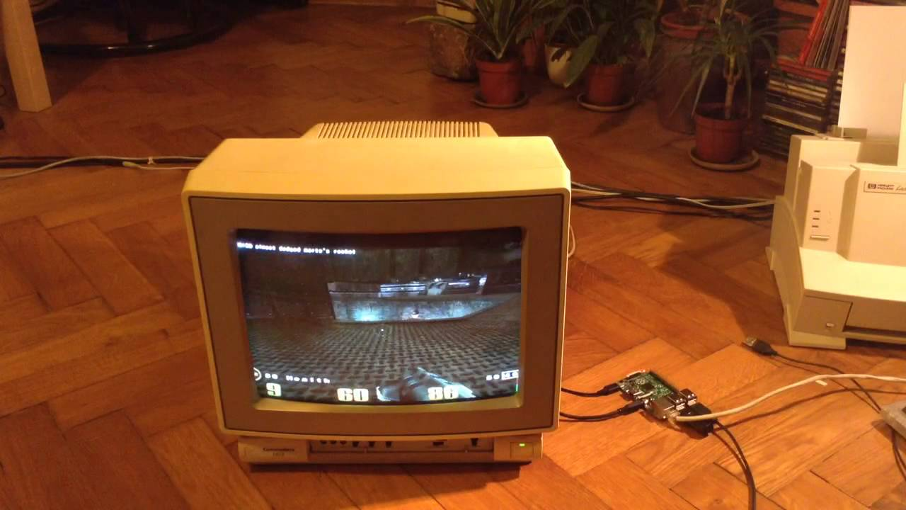 Quake 3 On Raspberry Pi And C64 Crt Monitor Youtube