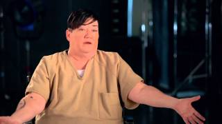 "Orange Is The New Black: Lea Delaria ""Big Boo"" Season 2 On Set TV Interview"