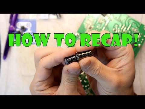 TDL- Changing capacitors recapping circuit boards