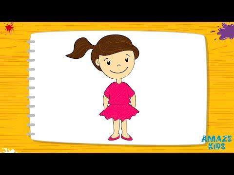 Как нарисовать девочку ребенку 6 лет