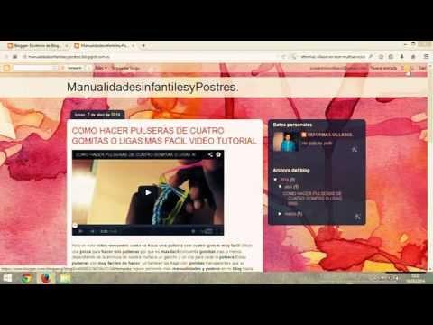 Cómo Cambiar la Plantilla de mi  Blogger Crear Mi Blog Paso a Paso 2ª p