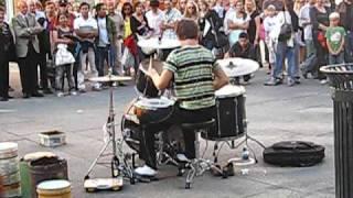 amazing Drummer... street performer