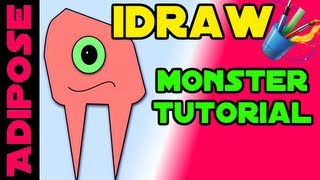 iDraw Tutorial #1 - Simple Monster - Nodes, Fills, Basic Tools