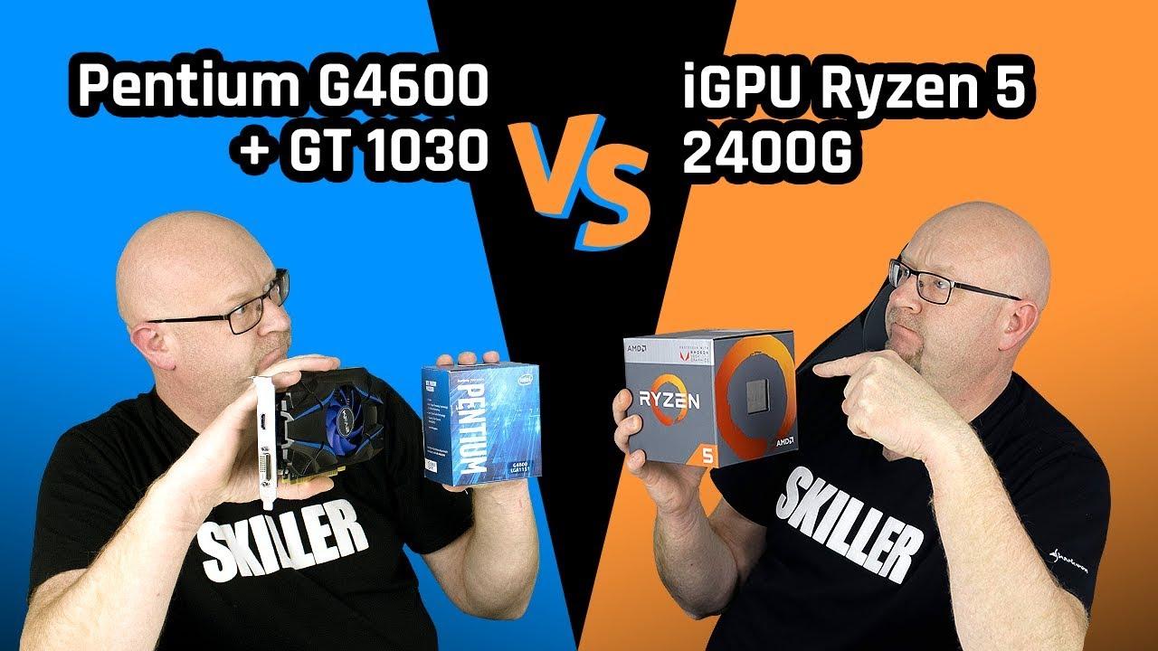 Dwóch na jednego, czyli Pentium G4600 + GT 1030 vs iGPU Ryzen 5 2400G