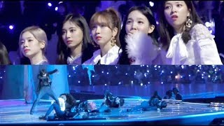 "20181212 TWICE's Reaction to BTS ""Fake Love"" Performance @MAMA in JAPAN"
