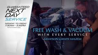 Mazda - Guaranteed next day service 30s