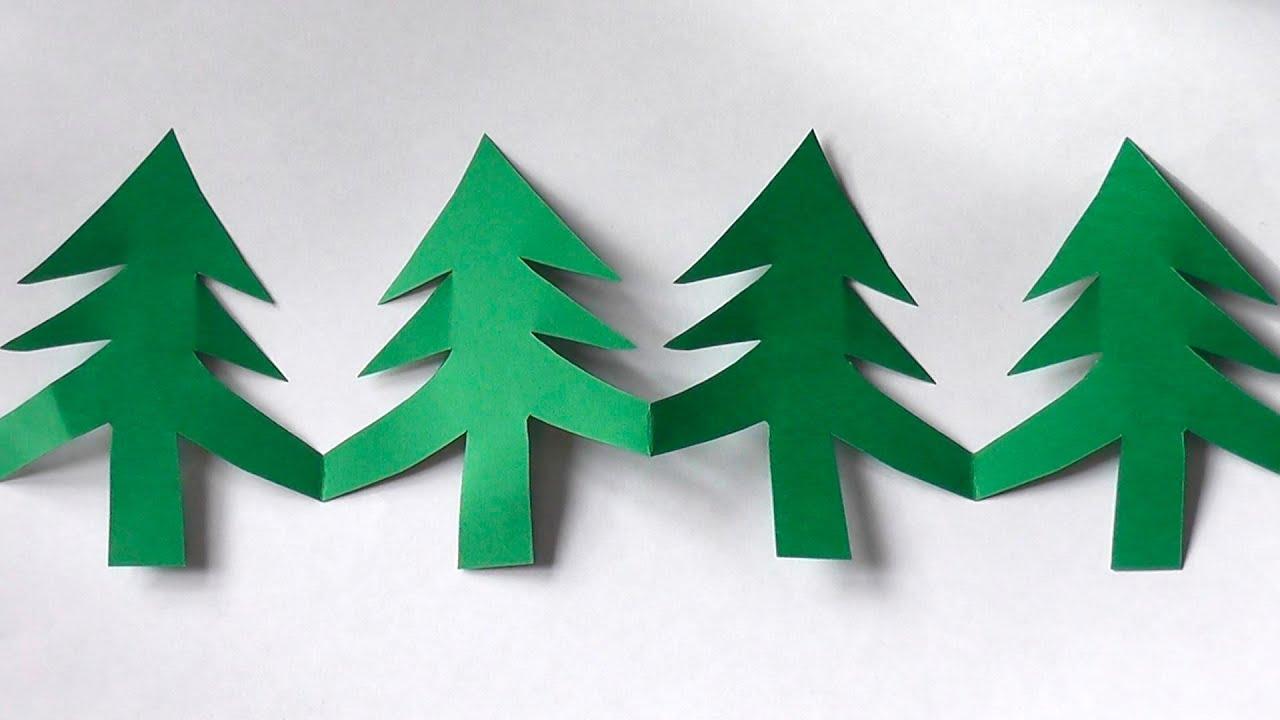 Как вырезать елку из бумаги своими руками поэтапно 63