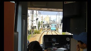 【東急世田谷線】前面展望 下高井戸~三軒茶屋 Tokyu Setagaya line in Tokyo Japan.