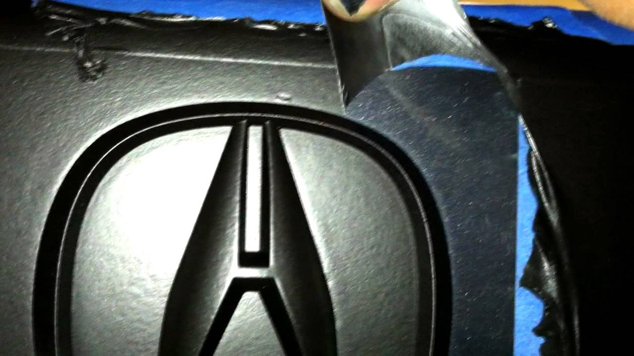 Plasti Dip Rear Emblems On A Tsx And Peeling Dirty