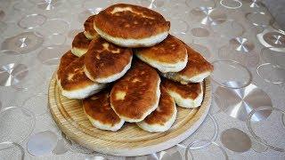 Жареные пирожки на КЕФИРЕ с БАКЛАЖАНАМИ и МЯСОМ