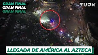 ¡Locura total! América llega al Estadio Azteca | Previo a la final | TUDN