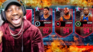 ALL-STAR PACK OPENING & 96 OVERALL MASTERS! NBA Live Mobile 16 Gameplay Ep. 75
