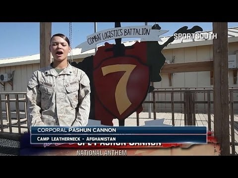 Cpl. Cannon sings anthem from Afghanistan