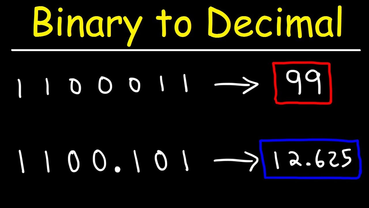 How To Convert Binary To Decimal Youtube
