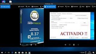 Descargar e instalar (Deep Freeze Standar  8.37 + crack  para   windows 10 y 8 )