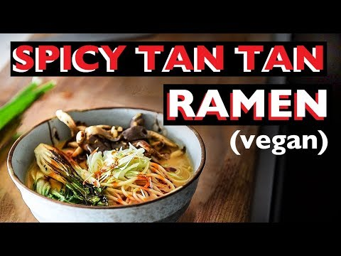 VEGAN RAMEN RECIPE | HOW TO MAKE EASY TANTANMEN SPICY TAN TAN BROTH ビーガンラーメン