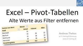 Excel # 379 - Gelöschte Werte aus Pivot-Filtern entfernen