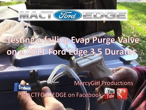 Emissions Vapor Canister Purge Valve Solenoid replacement on a 2011 Ford Edge 3 5 Duratec
