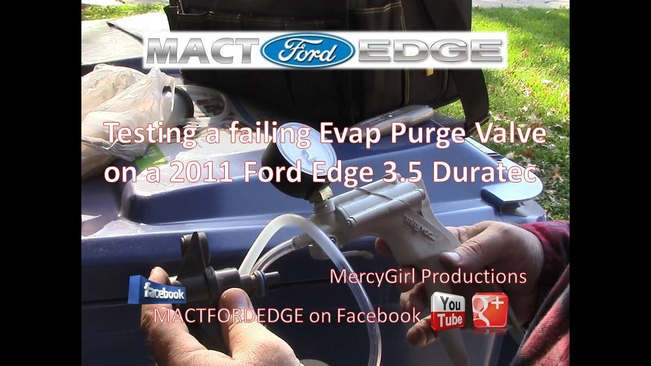 medium resolution of emissions vapor canister purge valve solenoid replacement on a 2011 ford edge 3 5 duratec