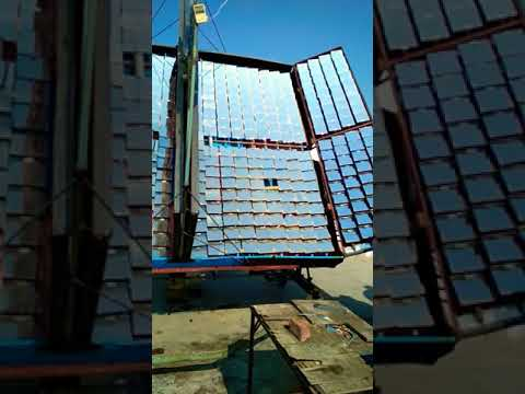 Steam production for Free Electricity through flat solar concentrated panal