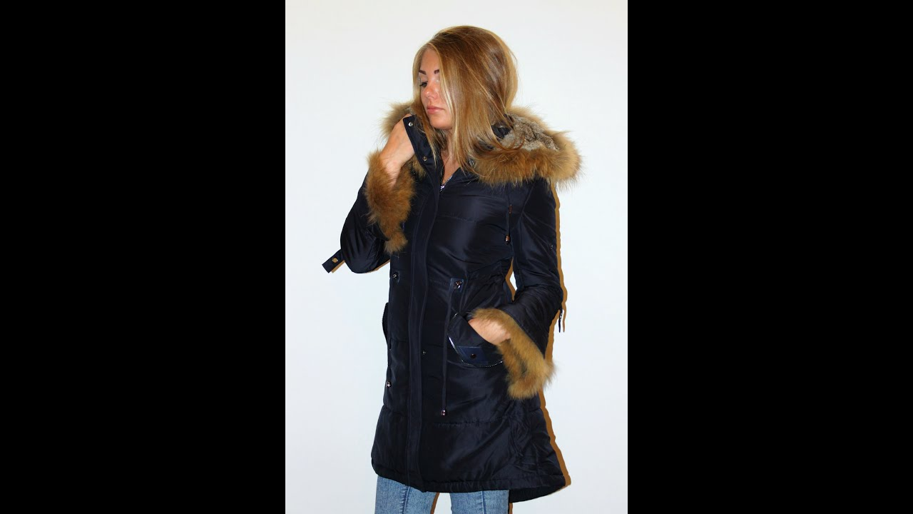 Куртка парка женская зимняя купить - YouTube