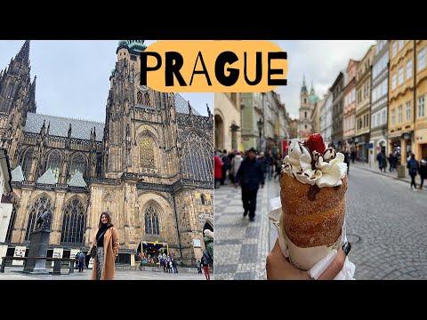 Exploring PRAGUE: Food, Snowfall & More | Golgappa Girl In Europe