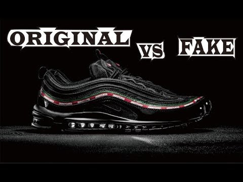 Undefeated X Nike Air Max 97 Black Original & Fake