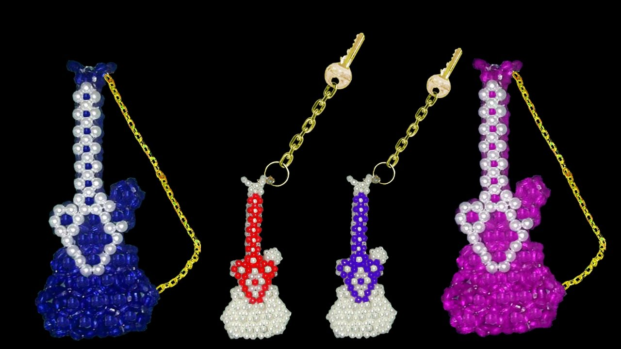 How To Make Crystal Beads Keychain Part 2 Beaded