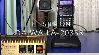 Test Booster HT Daiwa LA-2035R 30 Watt