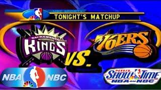 NBA Showtime: NBA on NBC PlayStation Gameplay - Philadelphia 76ers @ Sacramento Kings (NBC Court)