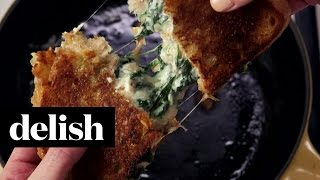 How To Make Spinach & Artichoke Grilled Cheese