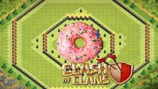 Clash Of Clans - TH 11 Hybrid/Farming Base - Donut Base