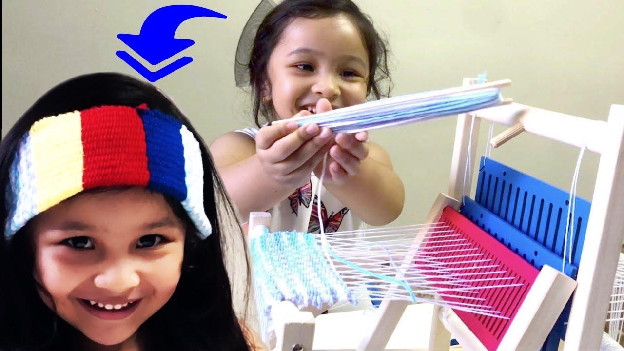 Lavievert Wooden Multi Craft Weaving Loom DIY Hand Knitting Weaving Machine Intellectual Kids Toys