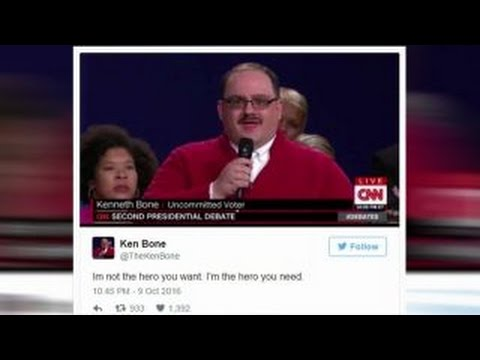 Social media reaction to the second presidential debate