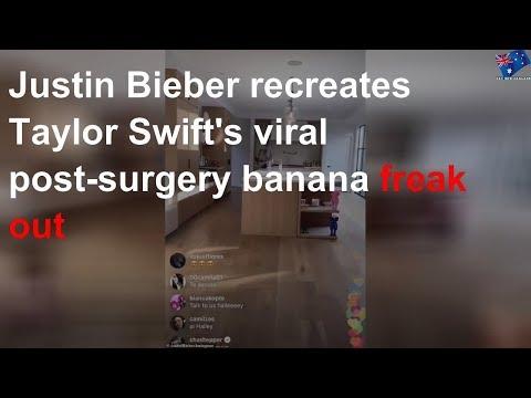 Justin Bieber mocks Taylor Swift's post-surgery video