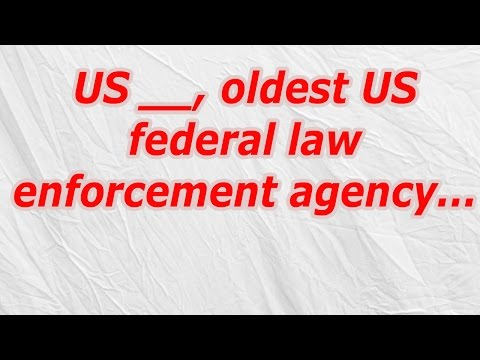 US, oldest US federal law enforcement agency (CodyCross Answer/Cheat)