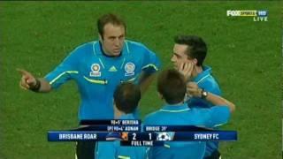 A-LEAGUE SOCCER MADNESS Brisbane Roar vs Sydney FC at Suncorp Stadium