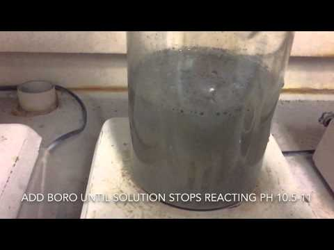 Making silver powder from silver dissolved in Nitric Acid.   Try at your own risk.