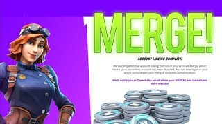 How to Merge Fortnite Accounts Tutorial *NEW* Transferring Skins, Emotes and Vbucks