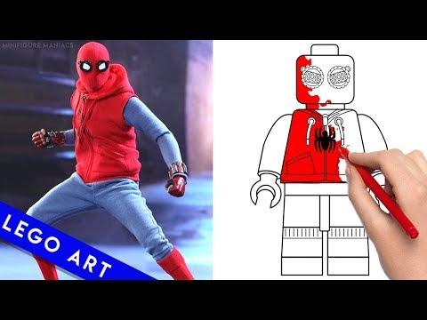 LEGO SPIDERMAN - Minifigures Art Vs Cartoon