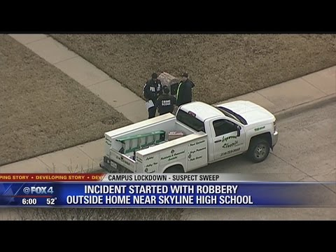 Robbery Suspects Run Into Skyline HS