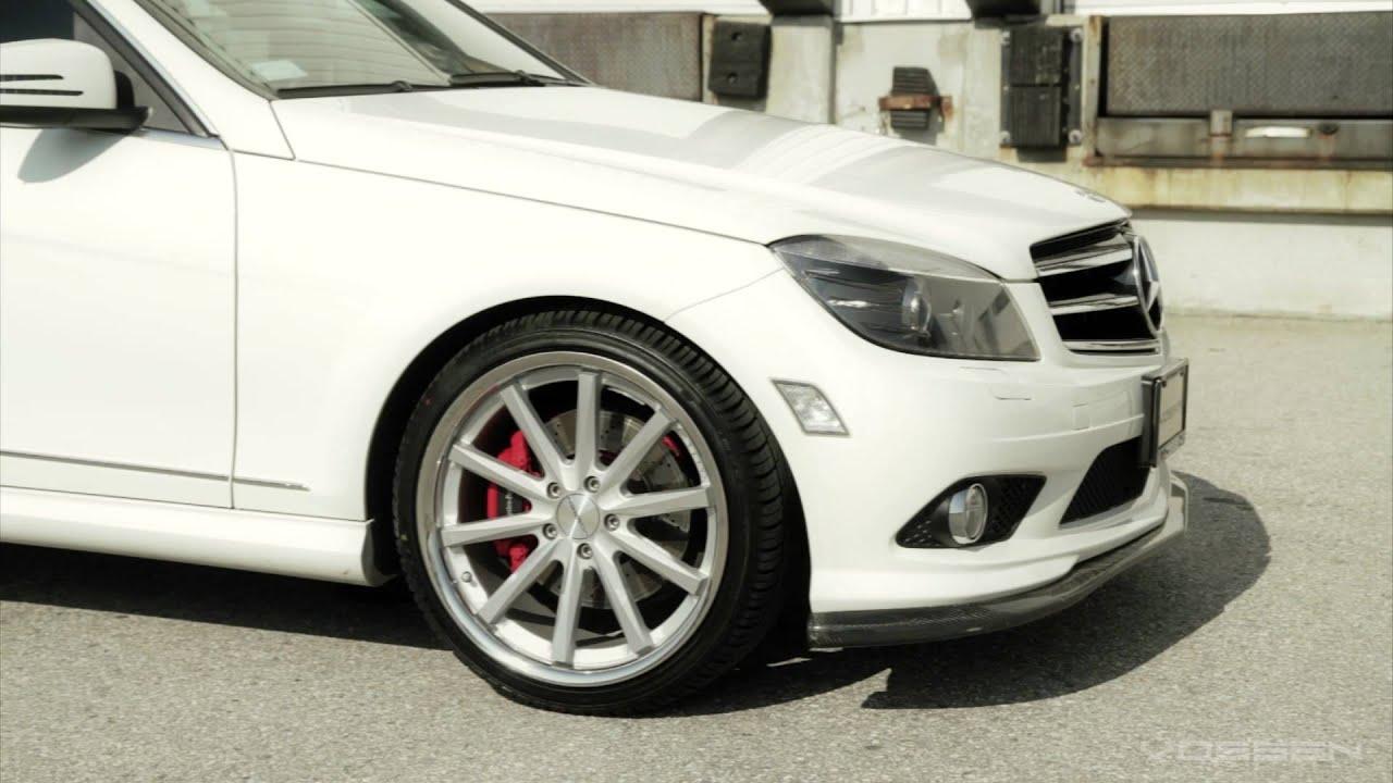 Mercedes Benz C300 On 19 Quot Vossen Vvs Cv1 Concave Wheels Rims Youtube