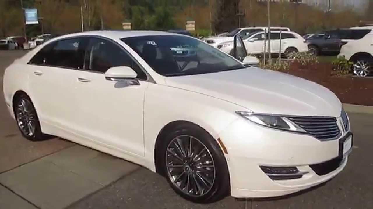 2014 Lincoln Mkz White Platinum Metallic Stock 30010a