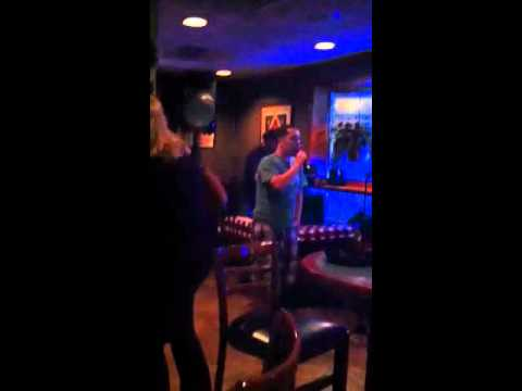 Sean sings karaoke at The Beef